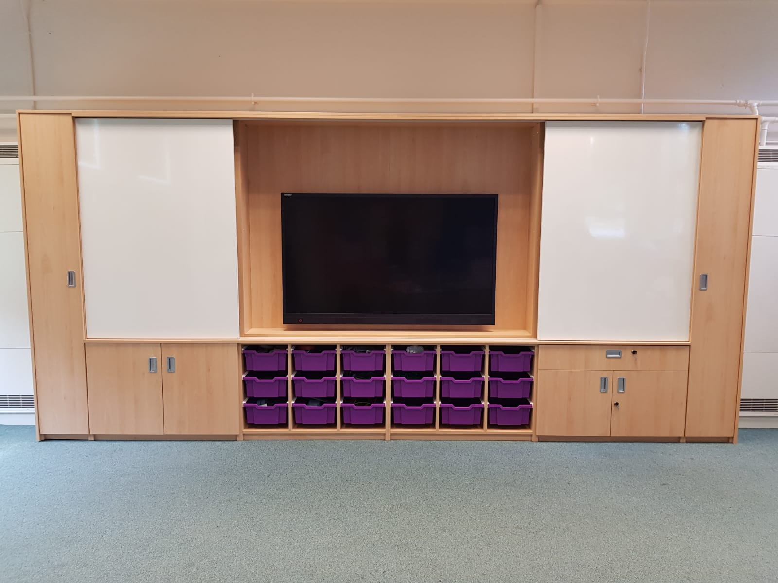 Witley Jones Furniture install teaching wall at Hollymount School