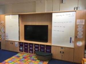 Witley Jones and HTS AV install Teaching Wall at Hollymount School